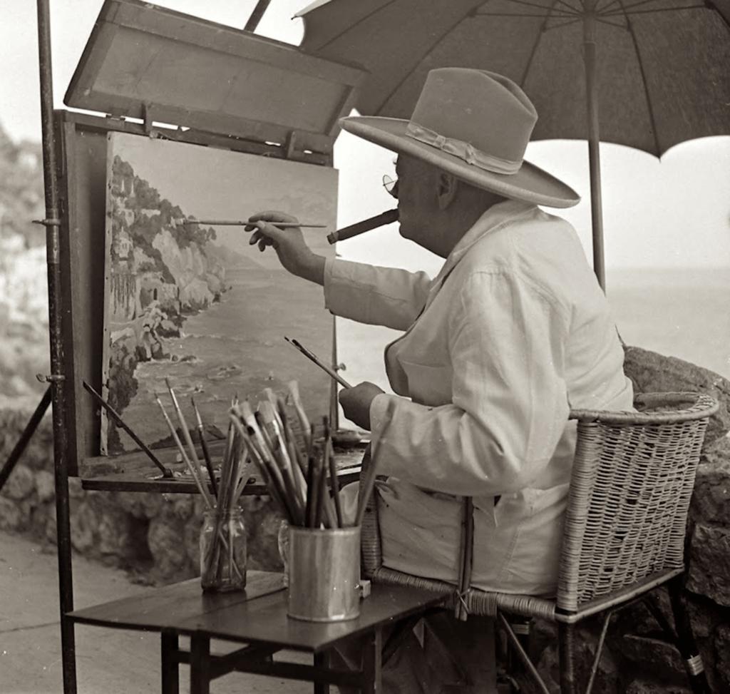 Churchill aan de Côte d'Azur