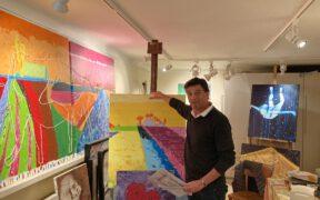 Hoedi schilder in Vence